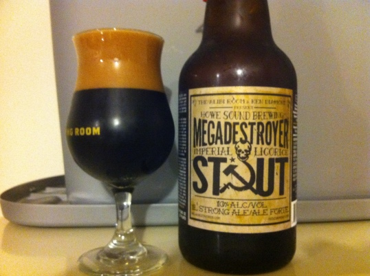 Megadestroyer Imperial Licorice Stout by Howe Sound Brewery